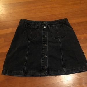 Black top shop Moto skirt